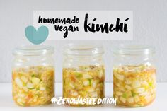 OMG, I LOVE kimchi 😍! Kimchi is a truly addictive traditional Korean fermented side dish, mostly napa cabbage 💚. Buying kimchi in bulk can seem difficult. In Asian supermarkets it i… Chutney, Napa Cabbage, Vegan Recipes, Vegan Food, Meal Prep, Food Prep, Healthy Life, Side Dishes, Bakery