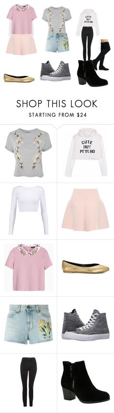 """Untitled #24"" by superdupered on Polyvore featuring Topshop, Cushnie Et Ochs, RED Valentino, Max&Co., Rebecca Minkoff, Gucci, Converse, Skechers and Qupid"