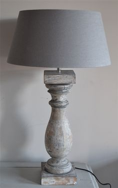 My favourite lamp at the moment Luberon Provence, Steampunk Lamp, Wooden Lamp, Chandelier Lamp, Lamp Shades, Rustic Interiors, Lamp Light, Home Projects, Floor Lamp