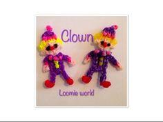 A cute Clown made on Raianbow Loom new website http://loomieworld.wix.com/loomieworld facebook group : Loomie World Instagram - @Loomie.World ©Loomie World