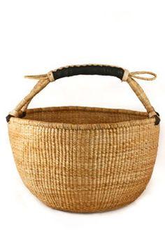Ghana Bolga Shopper Basket - Natural