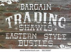 stock photo : Vintage Trading store sign