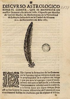 Discurso astrologico sobre el cometa, que se manifiesta en nuestro orizonte este año de 1681. Biblioteca de Catalunya, Public Domain marked.