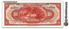 Billete de 10 Bolívares. Banco Mercantil y Agrícola (1926-1937)