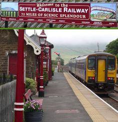 Met de trein van Settle naar Carlisle in Yorkshire