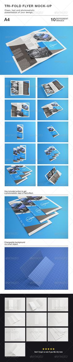Buy Tri-fold Flyer Mock-Up by WpWay_ on GraphicRiver. Tri-fold Flyer Mock-up Based on smart objects. Easy to use, save your time, present your design the best way. Event Flyer Templates, Presentation Templates, Mockup Photoshop, Flyer Layout, Indesign Templates, Business Card Mock Up, Creative Sketches, Tri Fold, Paint Markers