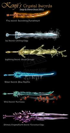 Kenji Crystal Swords by ~Lee99 on deviantART