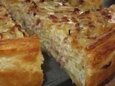 Pfälzer Zwiebelkuchen mit Blätterteig, ein tolles Rezept aus der Kategorie Tarte/Quiche. Bewertungen: 25. Durchschnitt: Ø 4,2.