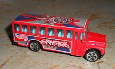 Vintage Toys Hot Wheels Bus Red Toy Bus 1988 by TheBackShak