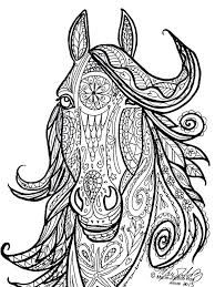 Horse Adult Coloring Page Elegant Horse Tribal Head Art by Marie Justine Roy Horse Coloring Pages, Coloring Pages To Print, Free Printable Coloring Pages, Coloring Pages For Kids, Coloring Book Pages, Coloring Sheets, Free Printables, Doodles Zentangles, Book Clip Art