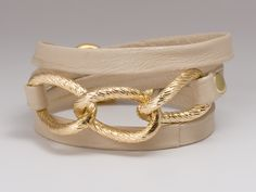I wear this constantly!! // Parker leather wrap in bone. $55 via gorjana.com