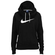 Nike Club Fleece Funnel Hoodie - Women's - Black/White
