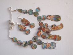 Q-Tea   Handmade Tin Necklace & Earring set by HannekeJonkman