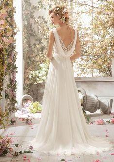 c0197f65b19 Voyage by Mori Lee 6778 Chiffon Lace Wedding Dress