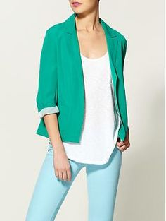 I just got a blazer this color! hope it looks just as good on my as it does here;)