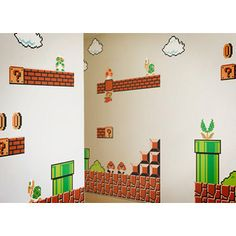 Mario Wall Stickers are the perfect stickers for Mario fans. On this page you will find the best Mario wall stickers for you or for your children,. Super Mario Bros, Super Mario Brothers, Nursery Wall Decals, Vinyl Wall Decals, Wall Stickers, Mario Room, Baby Center, Kids Room, Geek Stuff