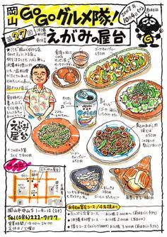 Menu Illustration, Food Illustrations, Food Poster Design, Food Design, Recipe Book Design, Food Catalog, Japanese Food Art, Food Doodles, Food Map