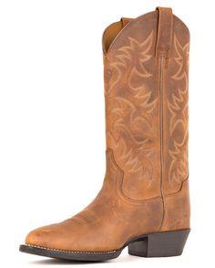 Just ordered mine.  Men's Heritage Western R Toe Boot - Distressed Brown