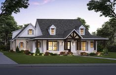 Country, Farmhouse House Plan 41426 with 4 Beds, 4 Baths, 2 Car Garage Elevation Best House Plans, Country House Plans, House Plans One Story, One Story Homes, Story House, Modern Farmhouse Plans, Country Farmhouse, French Country, Floor Plan Drawing