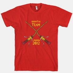 If I had this shirt, I would wear it every where!!! Quiddich Team, London 2012