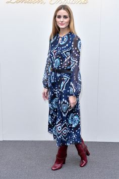 Olivia Palermo attends the Burberry show during London Fashion Week Autumn/Winter 2016/17 at Kensington Gardens on February 22, 2016 in London, England.