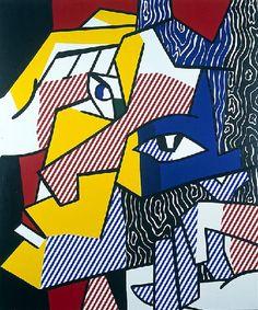 Chef expressionniste 2 (1980), huile de Roy Lichtenstein (1923-1997, United States)
