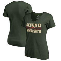 Minnesota Wild Fanatics Branded Women's Hometown Collection Defend T-Shirt - Green