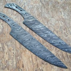 Custom Handmade Damascus Knives-Lot of 02 Damascus Chef Blank Blades Damascus Steel Chef Knife, Damascus Chef Knives, Damascus Knife, Military Knives, Best Pocket Knife, Forged Steel, High Carbon Steel, Custom Knives, Knives And Swords