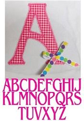 Letters Applique, Add A Ribbon - 3 Sizes | Featured Products | Machine Embroidery Designs | SWAKembroidery.com