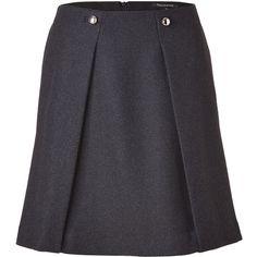 TARA JARMON Graphite Wool Blend Skirt ($168) ❤ liked on Polyvore