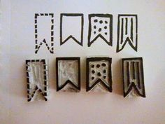 Hand-carved Banner Stamps