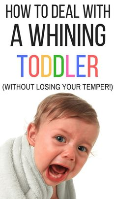 How to Deal With a Whining Toddler (Without Losing Your Temper) Why do kids whine? If you're looking for whining toddler tips, click through to read this article written by a behavior therapist! Parenting Toddlers, Parenting Books, Gentle Parenting, Parenting Advice, Parenting Classes, Parenting Styles, Parenting Quotes, Peaceful Parenting, Toddler Behavior
