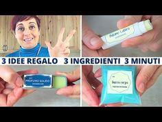 Come Fare Balsamo Labbra, Profumo Solido e Burro Corpo. 3 regali fai da te con 3 ingredienti base - YouTube