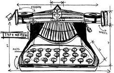typewriter sketch - Google Search