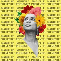Marielle Franco. Marielle presente! Black Is Beautiful, Beautiful World, Feminism Photography, Simple Art, Easy Art, Feminist Art, Power To The People, Festival Posters, Black Power