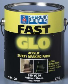 Exterior Glow Paint | Paint glows in the dark for 4 hours., Sherwin-Williams Co.