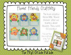 The Plants Dance - flower friends Kindergarten Language Arts, Kindergarten Themes, Kindergarten Science, Preschool Curriculum, Teaching Science, Teaching Ideas, Classroom Crafts, Science Classroom, Classroom Ideas