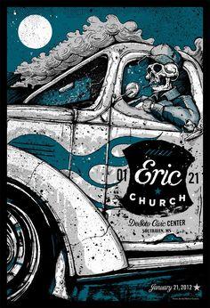 Eric Church poster design