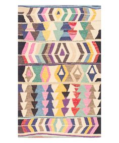 Look at this Multicolor Geo Ofelia Wool Rug on #zulily today!