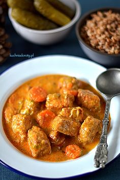Polish Recipes, Feta, Meal Prep, Curry, Good Food, Health Fitness, Food And Drink, Tasty, Meals