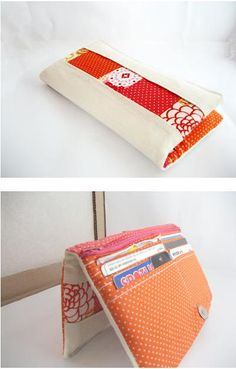 Patchwork Bifold Wallet Tutorial by Mel at allwrapped up #quilting #sewing