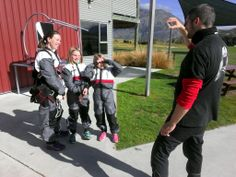 Our cameraman Matej is interviewing 2 little girls and their mother. Drop Zone, Skydiving, Tandem, New Zealand, Little Girls, Interview, Take That, Toddler Girls, Tandem Bikes