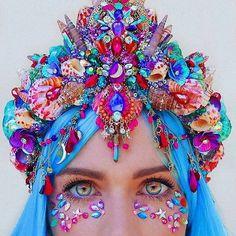 Festival Outfits, Festival Fashion, Cute Jewelry, Hair Jewelry, Jewellery, Headdress, Headpiece, Karneval Diy, Crown Photos