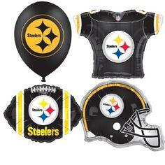 NFL Pittsburgh Steelers Balloon Party Pack by Classic Balloon. $24.99. Made in the USA. 15 Balloons of a Variety of Shapes and Sizes. Flexographic Printed Team Logo. Foil Material. NFL Pittsburgh Steelers Balloon Party Pack