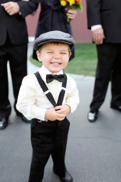 So cute! I am a huge fan of the bow tie and suspenders look :P