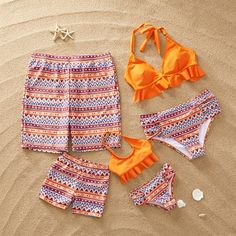 Bohemian Wave Print Swimsuit Mother Daughter ⋆ Best Frugal Deals & Steals on inspo Tamara, Bikinis, Swimsuits, Kids Outfits, Cute Outfits, Cute Bathing Suits, Baby Bathing, Matching Family Outfits, Two Piece Bikini