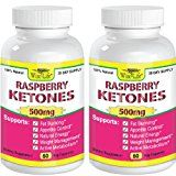 2x Raspberry Ketones Pure & Fresh 500mg Ketone Plus - 60 Vegetarian Caps, Fast Metabolism Diet Pills - Best Max Burn & Lose Fat Quickly Healthy Dieting Pills Proven for Rapid Weight Loss That Works Naturally Fast - Safely Simply Slim At Home with No Side Effects Raspberry Ketones