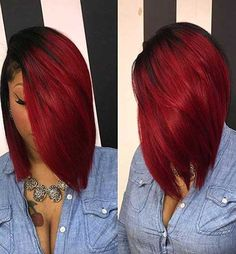 When it comes to bob hairstyles for black women, there is no limit to cuts and colors! Many of them work on all hair types & faces, so don't avoid a bob cut this season. Black Women Hairstyles, Girl Hairstyles, Red Weave Hairstyles, Bridesmaid Hairstyles, Hairstyles Pictures, Hairstyles 2018, Natural Hair Styles, Short Hair Styles, Bob Styles