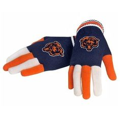 NFL Football 2014 Multi Color Team Logo Knit Gloves - Pick Team (Chicago Bears) acrylic yarn Embroidered logo's Made by Forever Collectibles Officially licensed Men's OSFA Bears Football, Football Gloves, Football Fans, Chicago Bears Women, Nfl Fans, Cold Weather Outfits, Knitted Gloves, Football Season, Sport Outfits