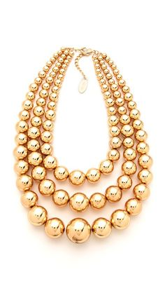Adia Kibur Layered Ball Necklace. For metals,or  basics, or version as semi precious mixed with pave